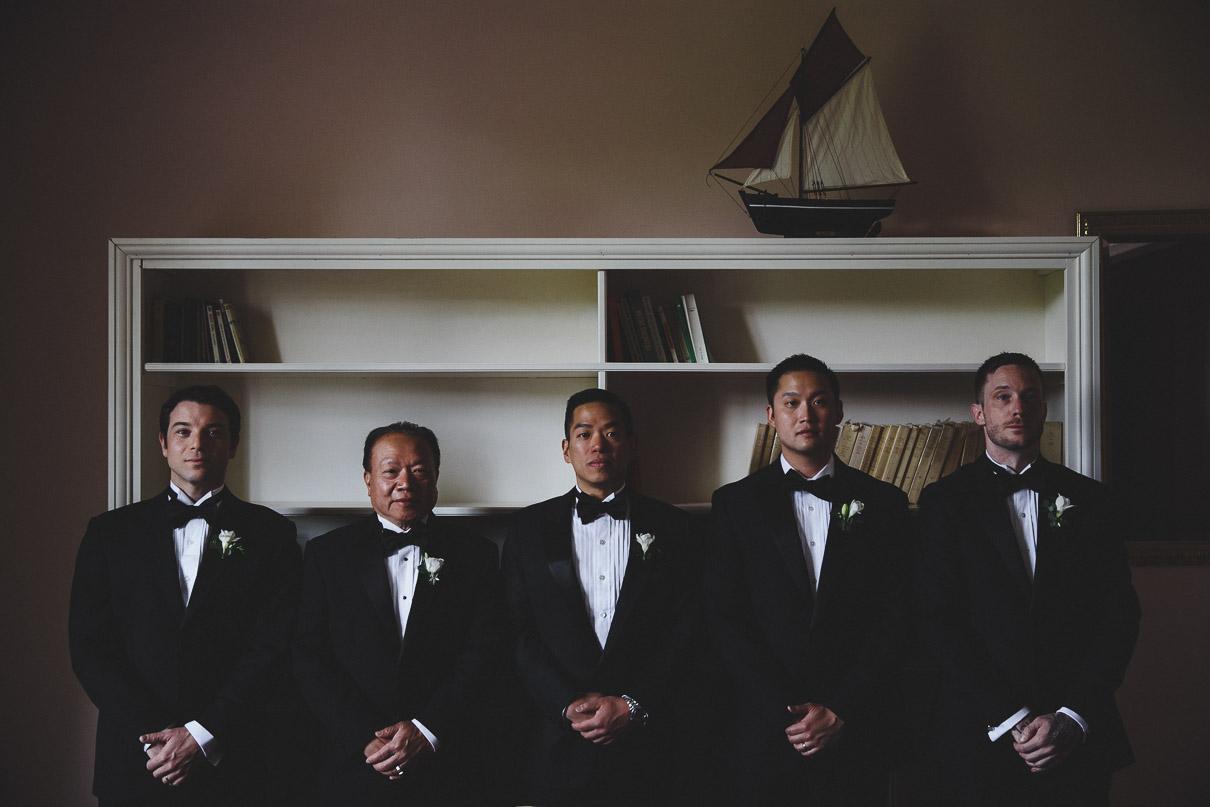Best men with groom