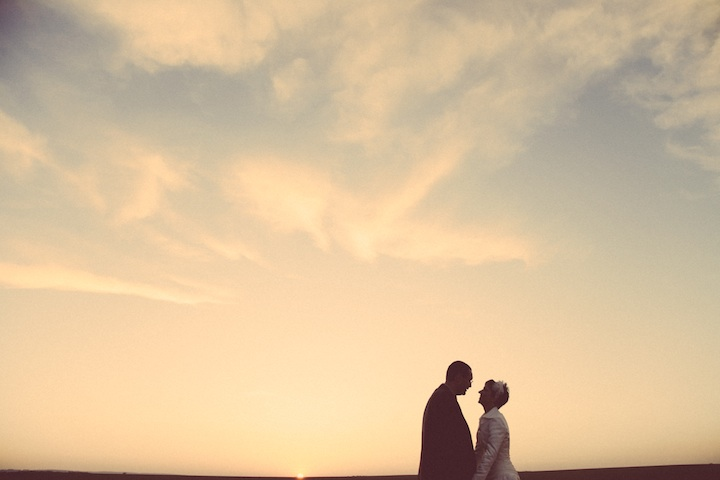 Sunset-wedding-couple