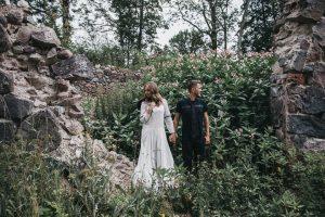 Styled engagement photo story